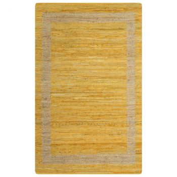 Ručno rađeni tepih od jute žuti 160 x 230 cm