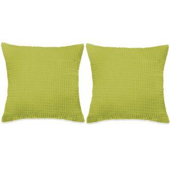 Set Jastuka 2 kom od Velura 60x60 cm Zeleni