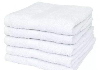Set hotelskih pamučnih ručnika 25 kom 400 gsm 100x150 cm bijeli