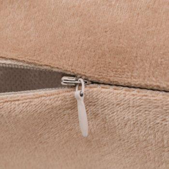 Set jastuka od velura 2 kom 60x60 cm bež