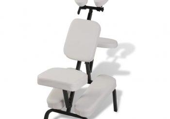 Sklopivi Prijenosni Stolac za Masažu Bijeli