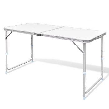 Sklopivi stol za kampiranje prilagodive visine aluminijski