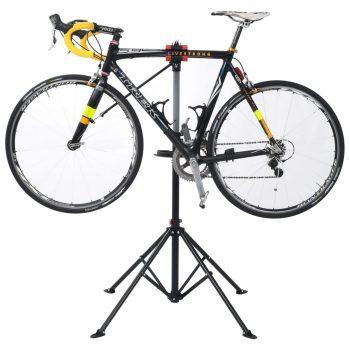 Stalak za popravak bicikla 103x103x(115 - 200) cm čelični crni