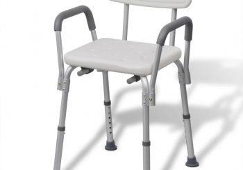 Stolica za Tuširanje Aluminijska Bijela