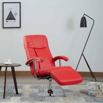 TV fotelja od umjetne kože crvena