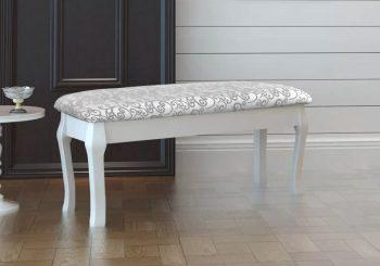 Tabure za stolić za šminkanje/dvosjed bijeli 110 cm