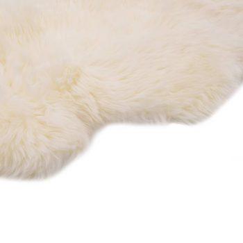 Tepih od ovčje kože 60 x 180 cm bijeli