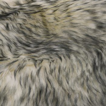 Tepih od ovčje kože 60 x 90 cm tamnosivi prošarani