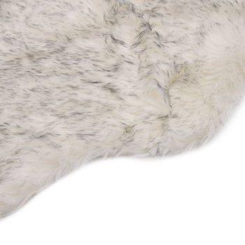 Tepih od umjetne ovčje kože 60 x 90 cm sivi prošarani