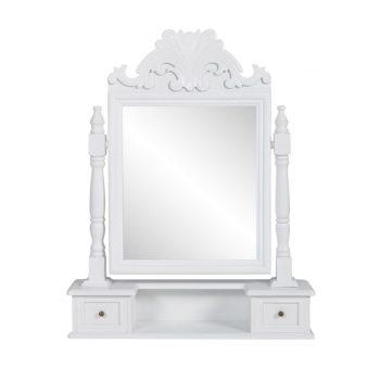 Toaletni Stol s Pravokutnim Nagibnim Ogledalom MDF
