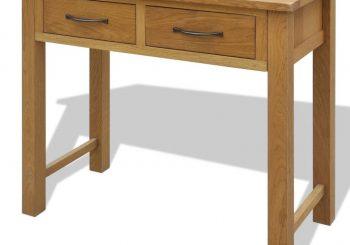 Toaletni stolić od masivne hrastovine sa stolicom