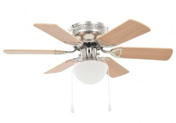 Ukrasni stropni ventilator sa svjetlom 82 cm svijetlosmeđi