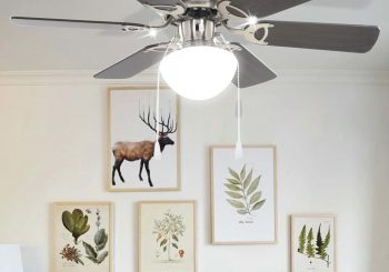 Ukrasni stropni ventilator sa svjetlom 82 cm tamnosmeđi