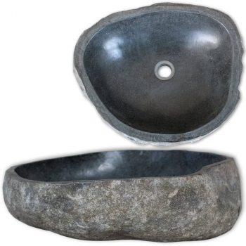 Umivaonik od riječnog kamena ovalni 46 - 52 cm