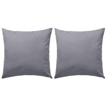 Vrtni jastuci 2 kom 45 x 45 cm sivi