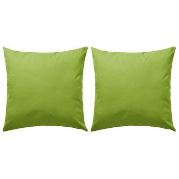 Vrtni jastuci 2 kom 45 x 45 cm zeleni