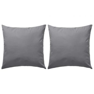 Vrtni jastuci 2 kom 60 x 60 cm sivi