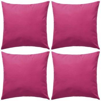 Vrtni jastuci 4 kom 45 x 45 cm ružičasti