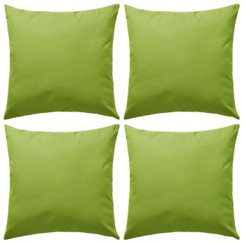 Vrtni jastuci 4 kom 45 x 45 cm zeleni