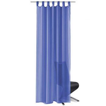 Zavjese od Voala 2 kom 140x225 cm Kraljevsko Plave
