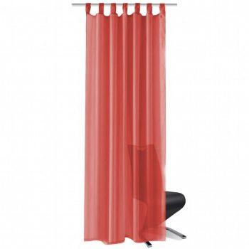 Zavjese od Voala 2 kom 140x245 cm Crvene