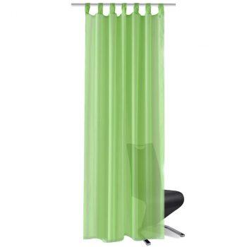Zelene prozirne zavjese 140 x 245 cm 2 kom