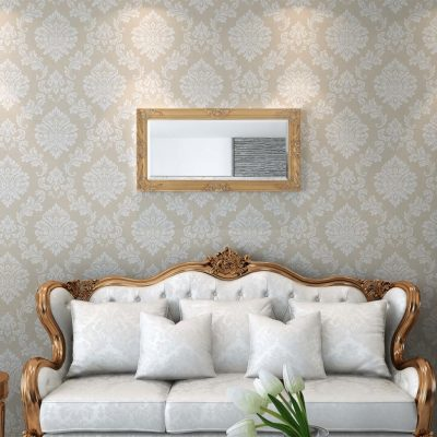 Zidno Ogledalo Barokni stil 100x50 cm Zlatna boja