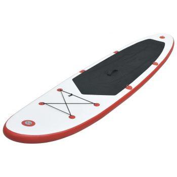 Daska na napuhavanje za veslanje stojeći crveno-bijela