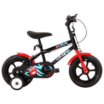 Dječji bicikl 12 inča crno-crveni