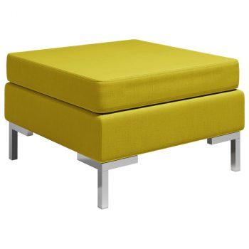Modularni tabure s jastukom od tkanine žuti