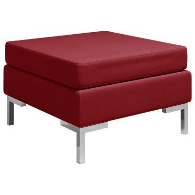 Modularni tabure s jastukom od tkanine crvena boja vina