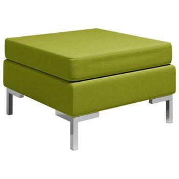 Modularni tabure s jastukom od tkanine zeleni