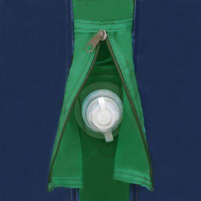 Šator s gredama na napuhavanje 320x170x150/110 cm plavo-zeleni