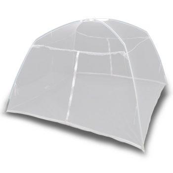 Šator za kampiranje 200 x 180 x 150 cm od staklene vune bijeli