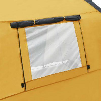 Šator za kampiranje 450 x 240 x 190 cm za 4 osobe žuti