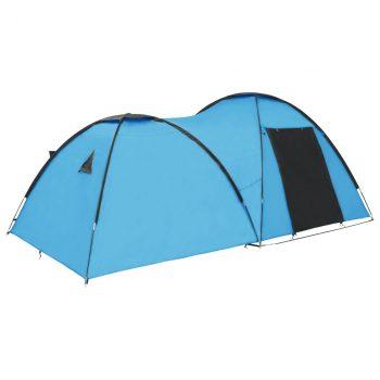 Šator za kampiranje 450 x 240 x 190 cm za 4 osobe plavi