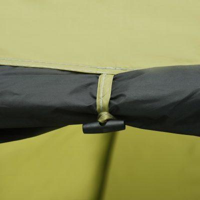 Šator za kampiranje 450 x 240 x 190 cm za 4 osobe zeleni