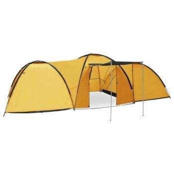 Šator za kampiranje 650 x 240 x 190 cm za 8 osoba žuti