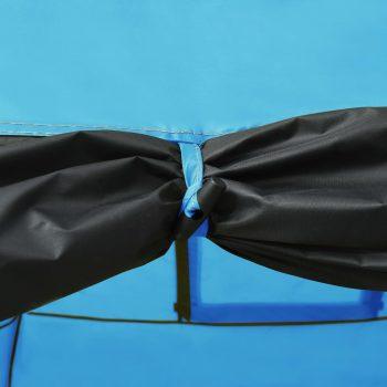 Šator za kampiranje 650 x 240 x 190 cm za 8 osoba plavi