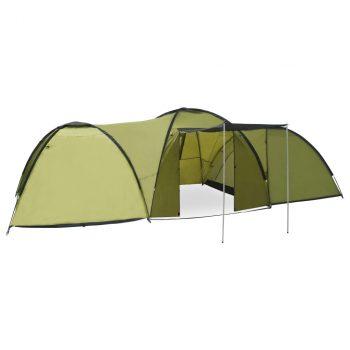 Šator za kampiranje 650 x 240 x 190 cm za 8 osoba zeleni