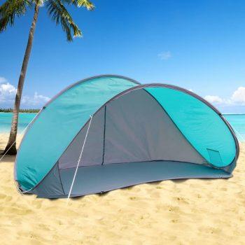 HI prigodni šator za plažu plavi