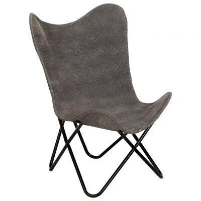 Leptir-stolica od platna antracit