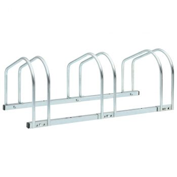 Podni stalak za parkiranje 3 bicikla 71 x 33 x 27 cm čelični