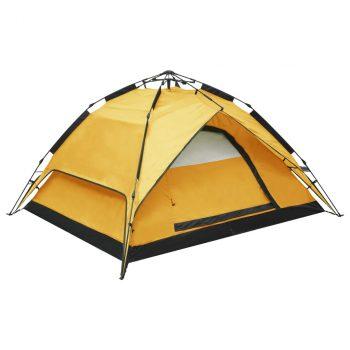 Prigodni šator za kampiranje za 2-3 osobe 240x210x140 cm žuti