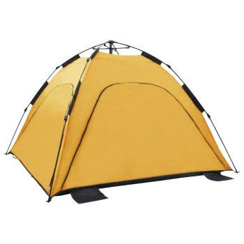 Prigodni šator za plažu 220 x 220 x 160 cm žuti