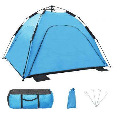 Prigodni šator za plažu 220 x 220 x 160 cm plavi