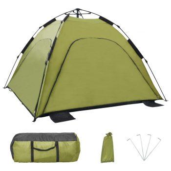 Prigodni šator za plažu 220 x 220 x 160 cm zeleni
