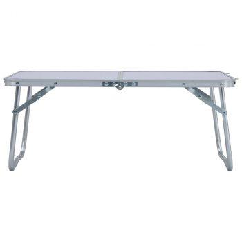 Sklopivi stol za kampiranje bijeli aluminijski 60 x 40 cm