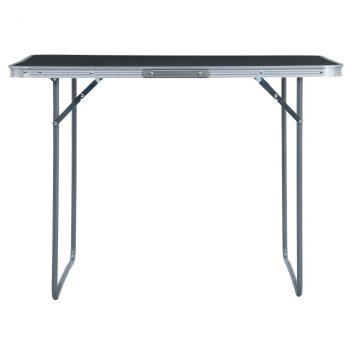 Sklopivi stol za kampiranje sivi aluminijski 120 x 60 cm