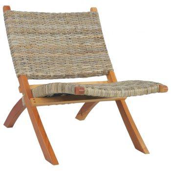 Stolica za opuštanje od prirodnog ratana kubu i drva mahagonija